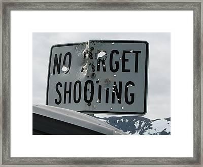Target Shooting  Framed Print