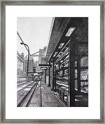 Framed Print featuring the mixed media Target Station by Jude Labuszewski