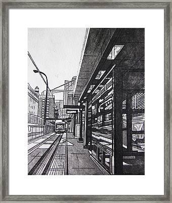 Target Station Framed Print