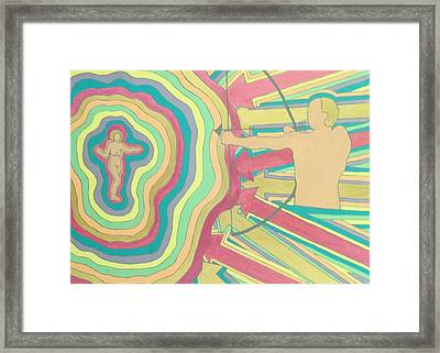 Framed Print featuring the painting Target by Erika Chamberlin