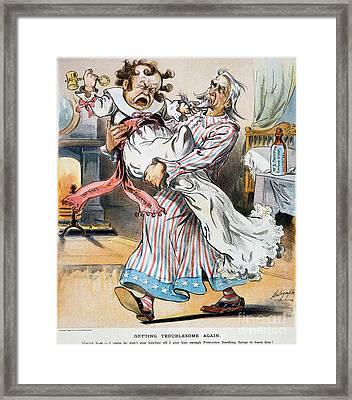 Tariff Cartoon, 1896 Framed Print by Granger