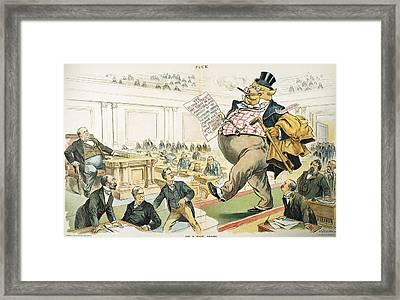 Tariff Lobbyist, 1897 Framed Print by Granger
