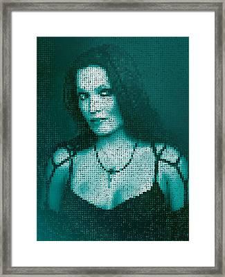 Framed Print featuring the digital art Tarja 12 by Marko Sabotin