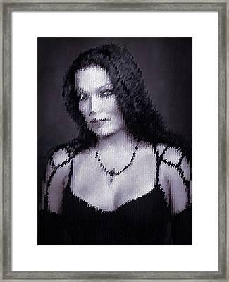 Framed Print featuring the digital art Tarja 13 by Marko Sabotin