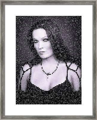 Framed Print featuring the digital art Tarja 19 by Marko Sabotin