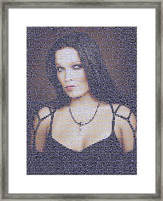 Framed Print featuring the digital art Tarja 2 by Marko Sabotin