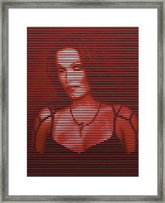 Framed Print featuring the digital art Tarja 20 by Marko Sabotin