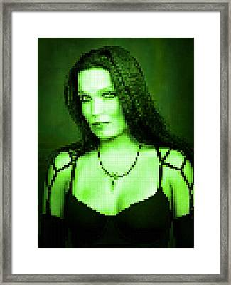 Framed Print featuring the digital art Tarja 3 by Marko Sabotin