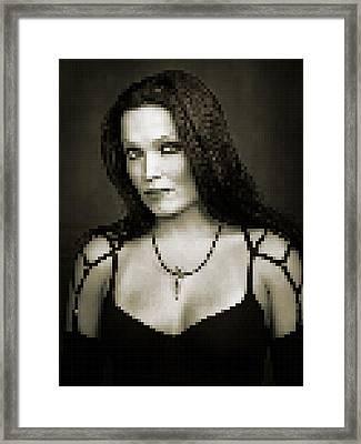Framed Print featuring the digital art Tarja 4 by Marko Sabotin