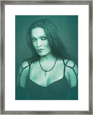 Framed Print featuring the digital art Tarja 6 by Marko Sabotin