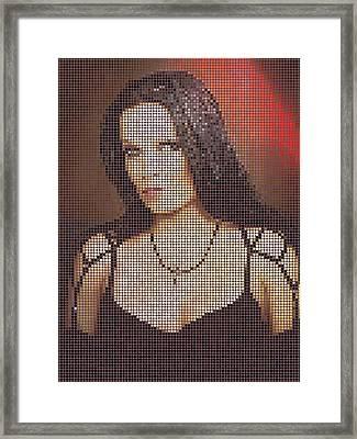 Framed Print featuring the digital art Tarja 7 by Marko Sabotin