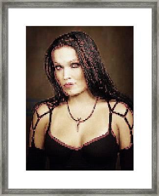 Framed Print featuring the digital art Tarja 8 by Marko Sabotin