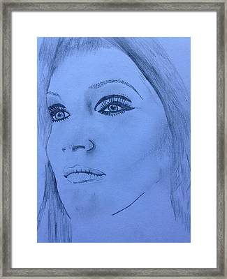 Tarja Framed Print by Contemporary Michael Angelo