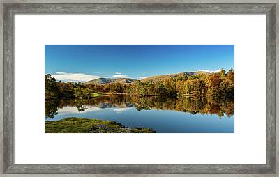 Framed Print featuring the photograph Tarn Hows by Mike Taylor