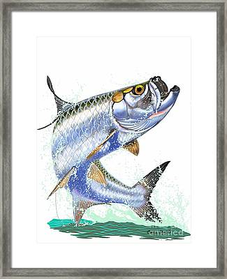 Tarpon Digital Framed Print