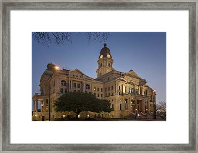 Tarrant County Courthouse Rebirth Framed Print