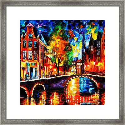 Starry Night Tardis Framed Print by Edi Suniarto