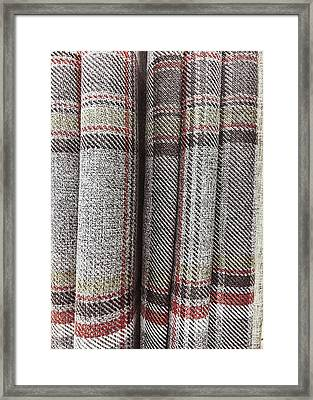 Tartan Curtain Pattern Framed Print by Tom Gowanlock