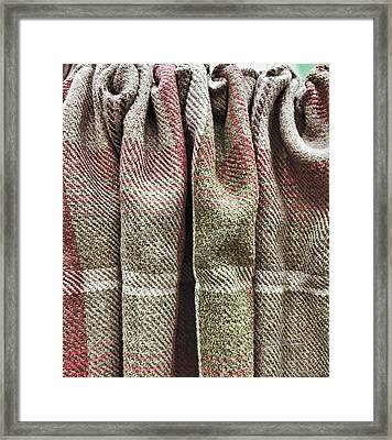 Tartan Curtain Framed Print by Tom Gowanlock