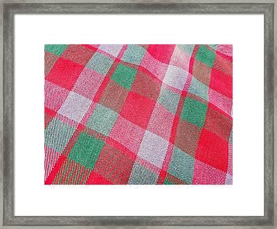 Tartan Pattern Framed Print by Tom Gowanlock