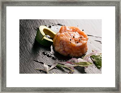 Tartare With Salmon And Onion 2 Framed Print