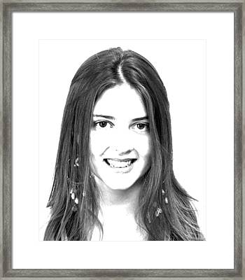 Taryn Framed Print by Mark Alan Perry