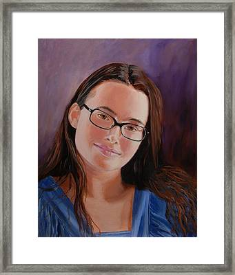 Framed Print featuring the painting Taryn Snow by Quwatha Valentine