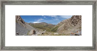 Tash Rabat Mountains Panorama Framed Print by Warren Photographic