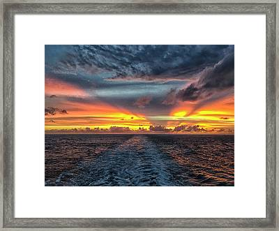 Framed Print featuring the photograph Tasman Sea Sunset by Bill Barber