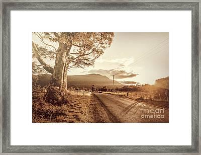 Tasmania Countryside Sunset Framed Print by Jorgo Photography - Wall Art Gallery