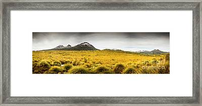 Tasmania Mountains Of The East-west Great Divide  Framed Print by Jorgo Photography - Wall Art Gallery