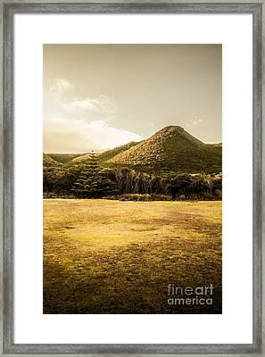 Tasmania West Coast Mountain Range Framed Print