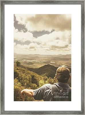 Tasmanian Hiking View Framed Print