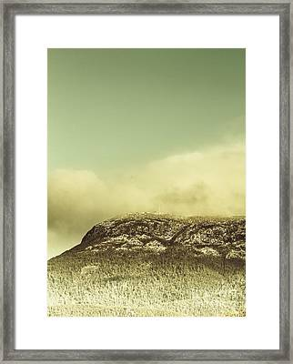 Tasmanian Mountain Ranges Framed Print by Jorgo Photography - Wall Art Gallery