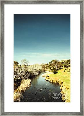 Tasmanian River Landscapes Framed Print by Jorgo Photography - Wall Art Gallery