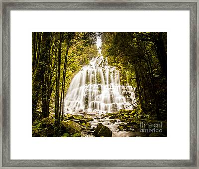 Tasmanian Waterfalls Framed Print by Jorgo Photography - Wall Art Gallery