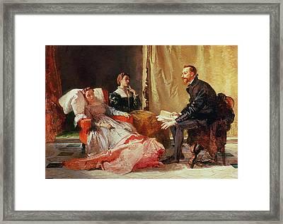 Tasso And Elenora Framed Print by Domenico Morelli
