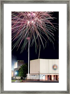 Taste Of Dallas 2015 Fireworks Framed Print