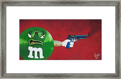 Taste The Rainbow Of Bullets Bitch Part 1 Framed Print by Chris  Fifty-one