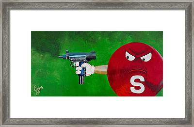 Taste The Rainbow Of Bullets Bitch Part 2 Framed Print by Chris  Fifty-one