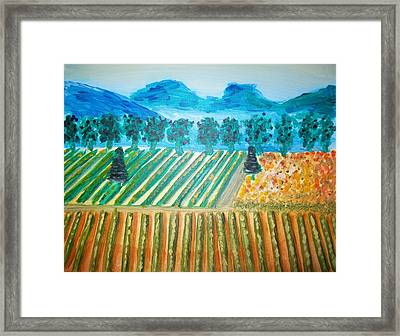 Taste The Vineyard Framed Print by Alexandra Torres