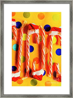 Tasty Candy Cane Sweets Framed Print