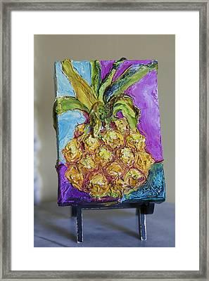 Tasty Pineapple Framed Print by Paris Wyatt Llanso