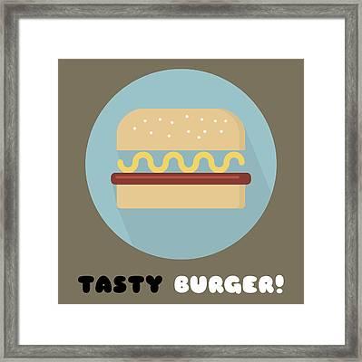 Tasty Tasty Burger Poster Print - Food Art Framed Print