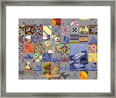 Tasty Tiles Framed Print