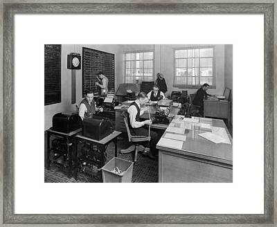 Tat Airline Office Framed Print by Underwood Archives