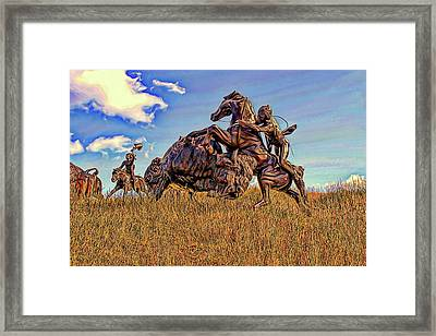 Tatanka Framed Print by Dave Luebbert