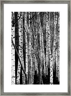 Framed Print featuring the digital art Tate Willows by Julian Perry