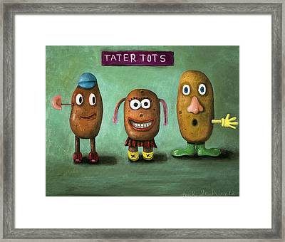 Tater Tots Framed Print by Leah Saulnier The Painting Maniac
