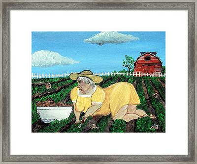 Taters Have Eyes Framed Print